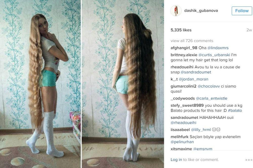 HIT NA INSTAGRAMU: Ruskinja 13 godina puštala kosu, ne želi da je ošiša sve dok ne dodirne pod