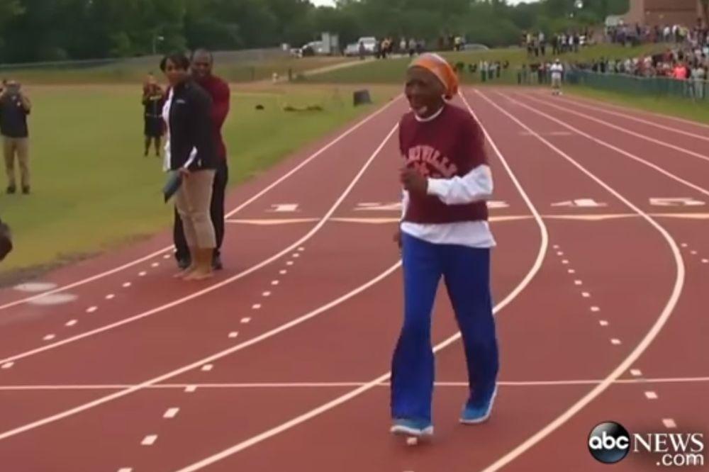 (VIDEO) BOLTE, ČUVAJ SE! 100-godišnjakinja oborila svetski rekord u trci na 100 metara. Neverovatno!