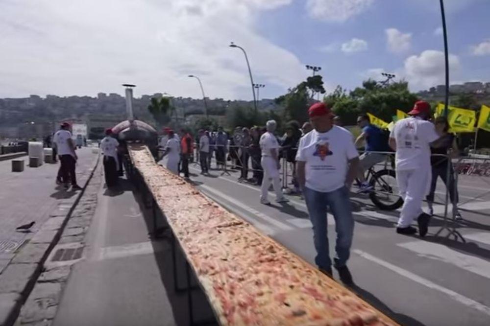(VIDEO) POSTAVLJEN NOVI SVETSKI REKORD: Ovo je najveća pica na svetu dugačka skoro 2 kilometra!