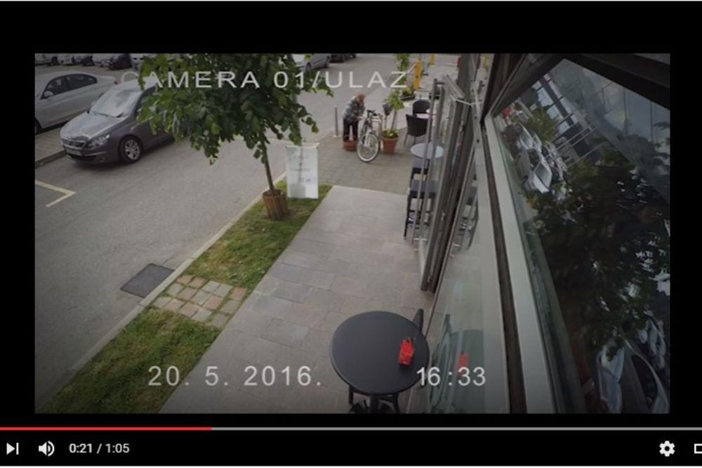 (VIDEO) NESVAKIDAŠNJI LOPOV: Zagrepčanin ostao u neverici kada je video ko mu je ukrao bicikl