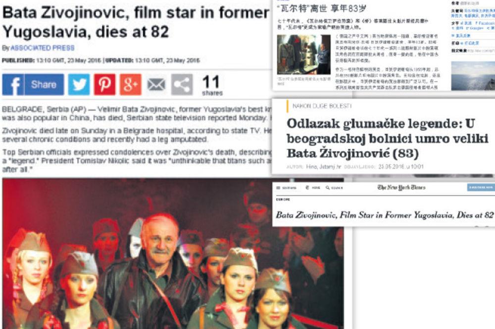 OTIŠLA JE MEGAZVEZDA: Svet plače za Batom Živojinovićem
