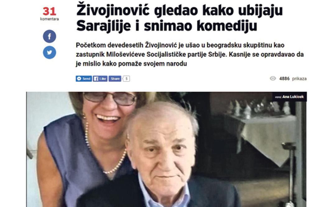 """BRUKA HRVATA """"Bata Živojinović je bio ratni huškač, gledao kako ubijaju Sarajlije i snimao komediju"""""""
