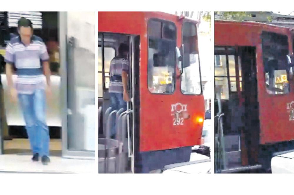 SNIMAK IZ BG ZAPALIO TVITER: Tramvajdžija zaustavio tramvaj da ode do kladionice?!