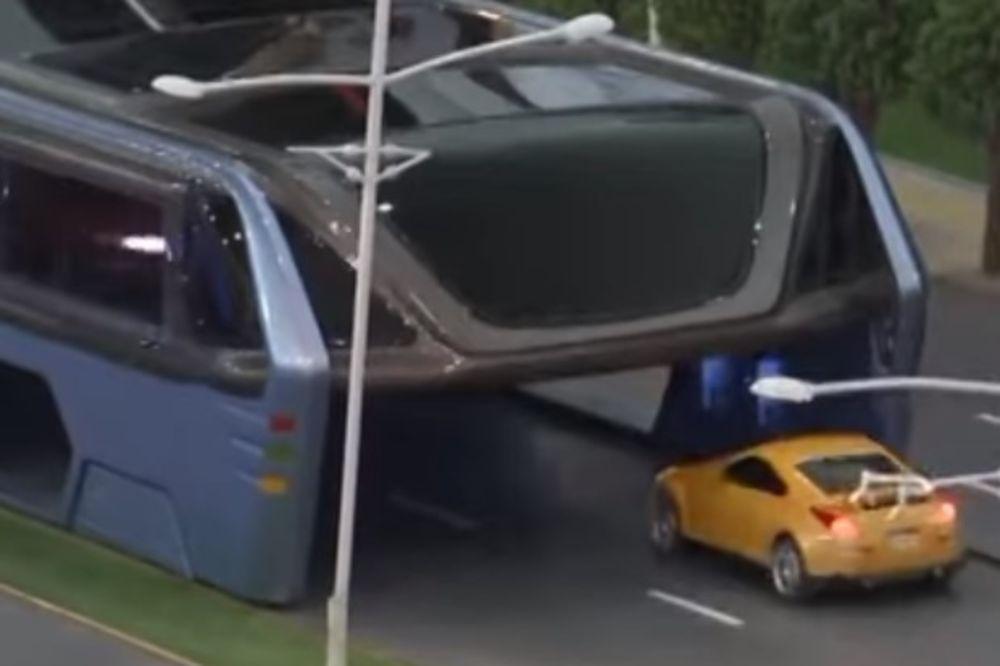 KINEZI IMAJU REVOLUCIONARNO REŠENJE: Autobus budućnosti rešiće brojne probleme u saobraćaju