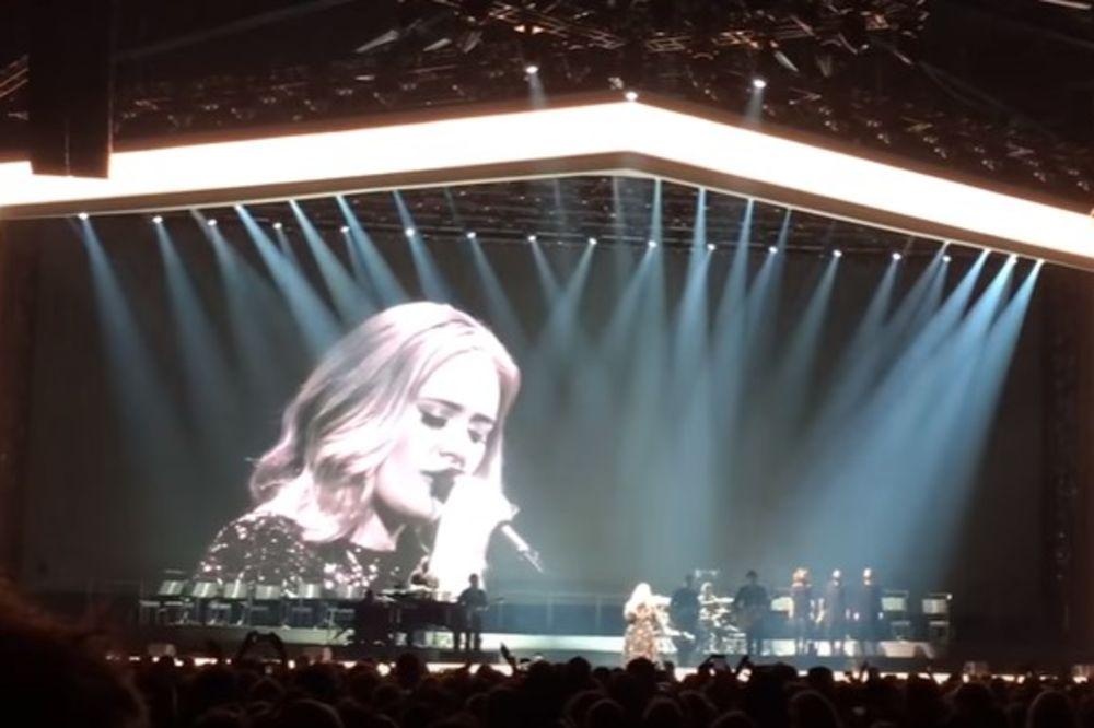 ŠTA JOJ SE DESILO? Adel pukla i psovala na koncertu jer je zaboravila tekst pesme!