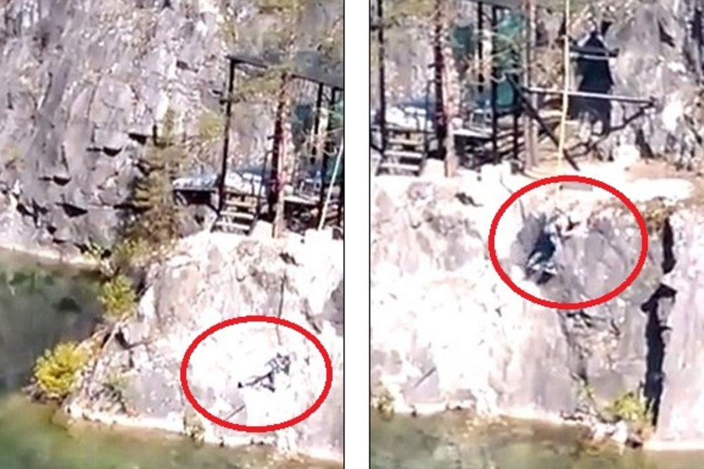 (UZNEMIRUJUĆI VIDEO) BANDŽI DŽAMP U RUSIJI POŠAO PO ZLU: Devojka pala na stene!