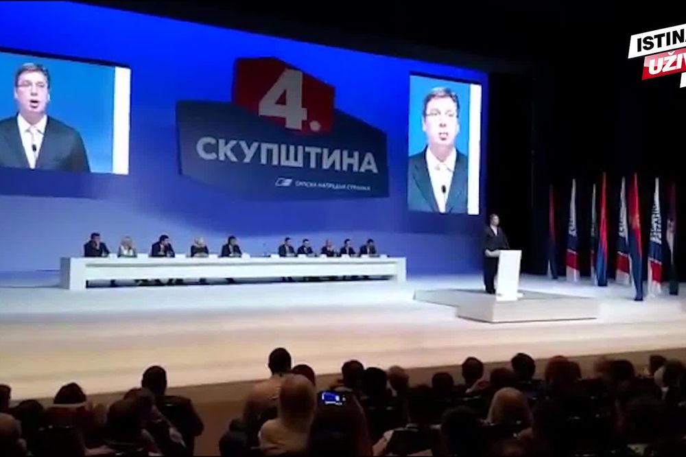 (KURIR TV) ZAVRŠENA SKUPŠTINA SNS: Vučić jednoglasno izabran za šefa stranke, sledi Glavni odbor