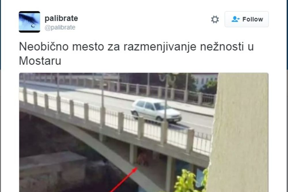 NEOBIČNO MESTO ZA RAZMENJIVANJE NEŽNOSTI:  Seks usred bela dana ispod mosta u Mostaru