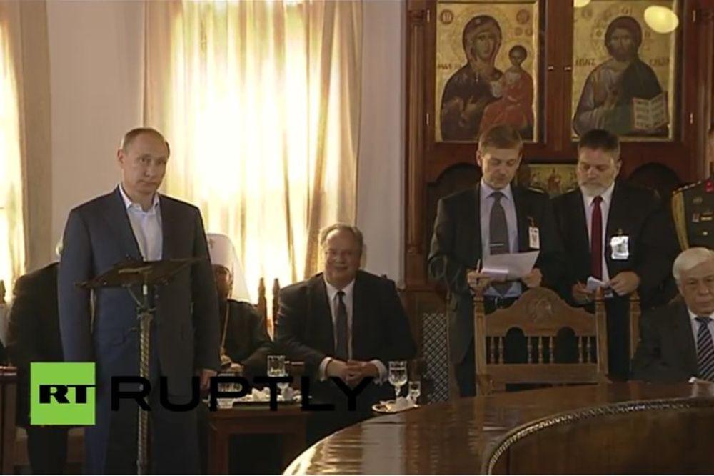 (VIDEO) PUTIN STIGAO: Ruski predsednik doputovao na Svetu Goru