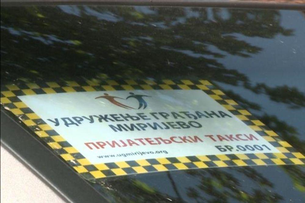 SAMO U BEOGRADU: Prijateljski taksi besplatno prevozi žitelje Mirijeva