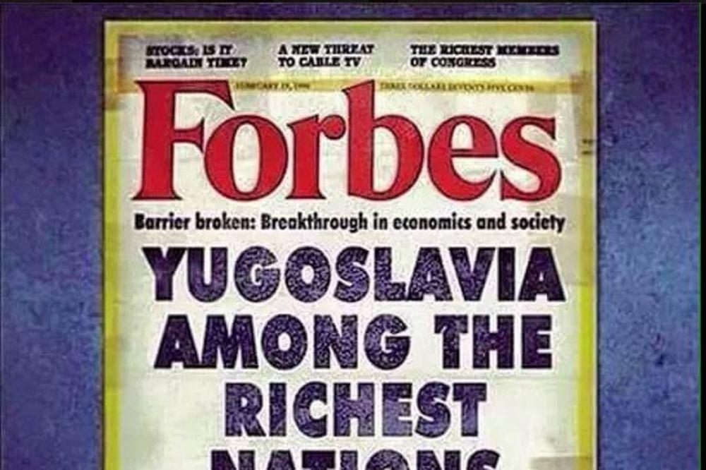 NASLOVNA STRANA FORBS MAGAZINA IZ 1976. GODINE: Eh Jugoslavijo, gde smo nekada bili, a gde smo sada!