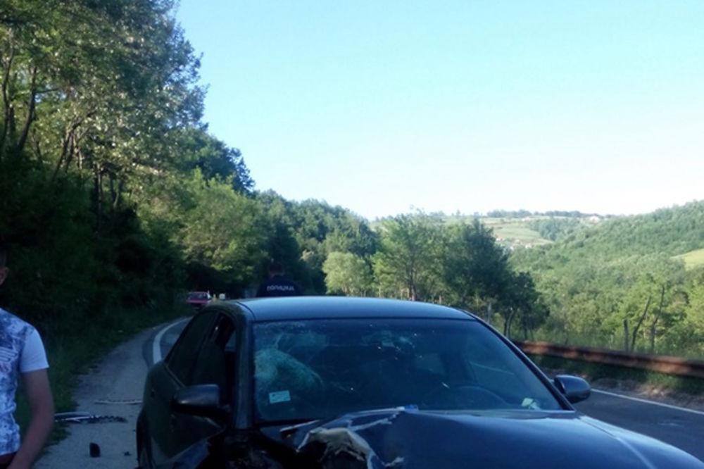 TEŠKA NESREĆA KOD RIBARIĆA: Motociklom se zakucali u audi, žena poginula muž povređen