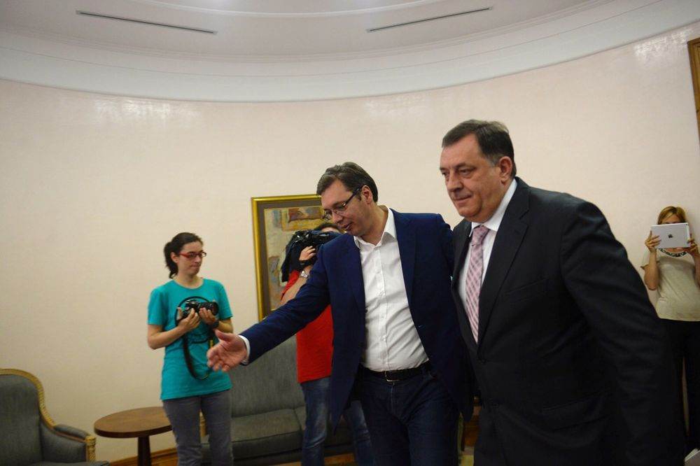 SUSRET SA PREDSEDNIKOM REPUBLIKE SRPSKE: Vučić se sastao sa Dodikom