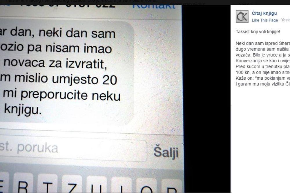 ZAGREPČANKA OSTALA DUŽNA TAKSISTI: Ono što je tražio umesto novca, oduševilo je celu Hrvatsku