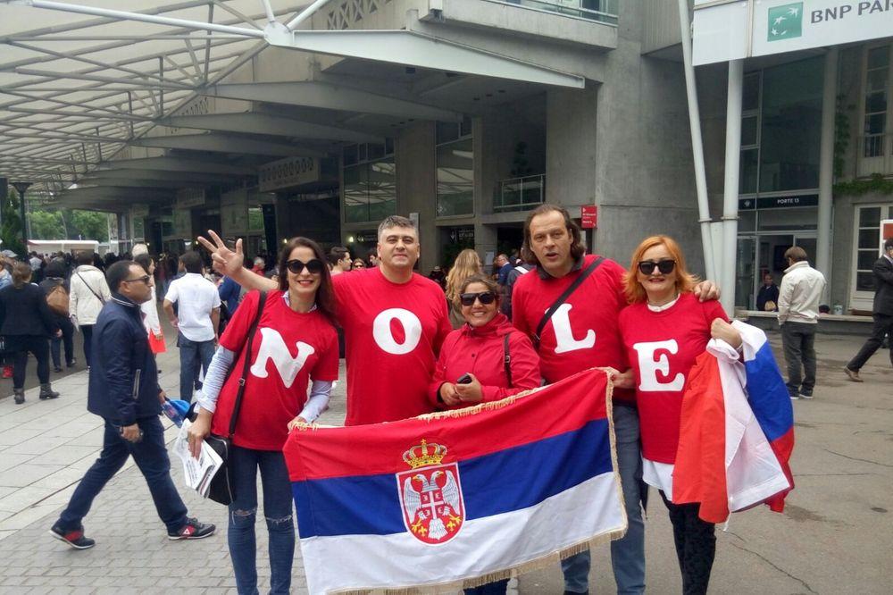 Navijači, Rolan Garos, Novak Đoković, Foto: Kurir sport/Milan Nastić