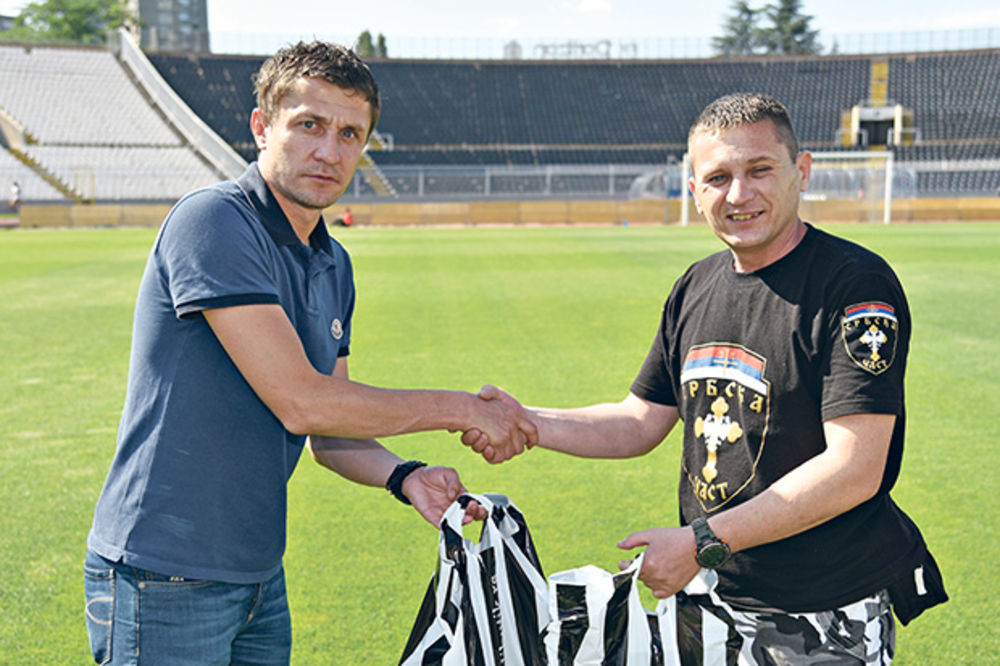 Sa kapitenom Partizana... Saša Ilić i Novica