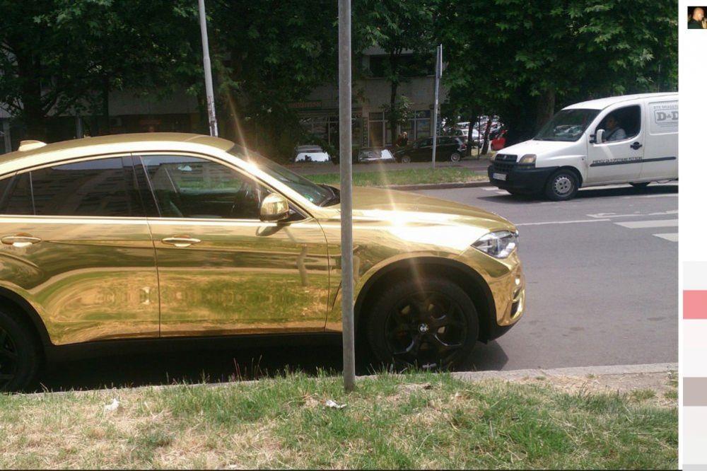 (FOTO) KAD ZLATAN ZUB NIJE DOVOLJAN: O ovom automobilu bruji celi Beograd!