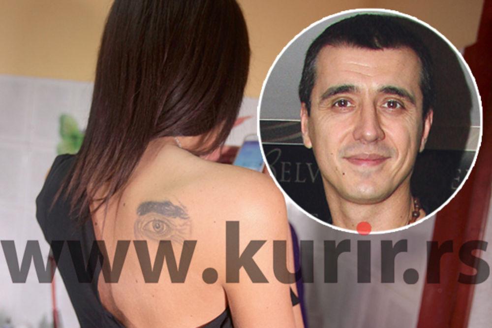 (FOTO) PRECRTALA MARKA BULATA: Tijana Ajfon prepravila tetovažu Bulatovog oka!