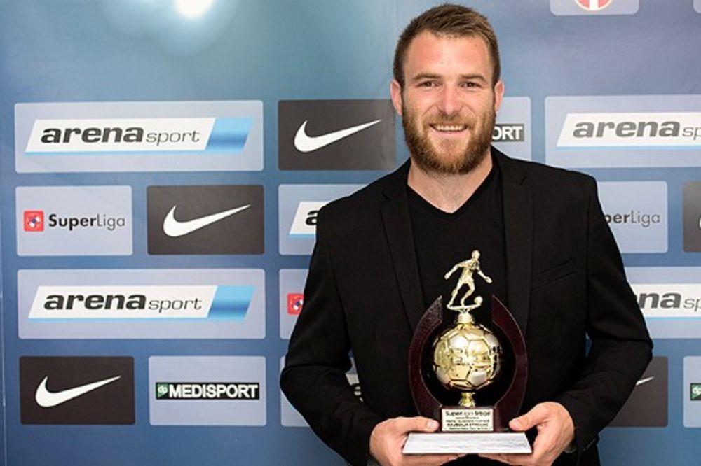 NAJBOLJI STRELAC SUPERLIGE: Fudbaleru Zvezde uručen trofej Slobodan Santrač