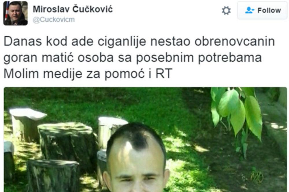 OKONČANA POTRAGA: Pronađen nestali Obrenovčanin Goran Matić