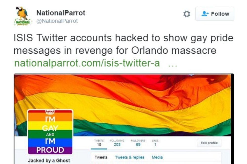 ANONIMUSI RAZBESNELI DŽIHADISTE: Upali im na Tviter profile i postavili slike gej zastave
