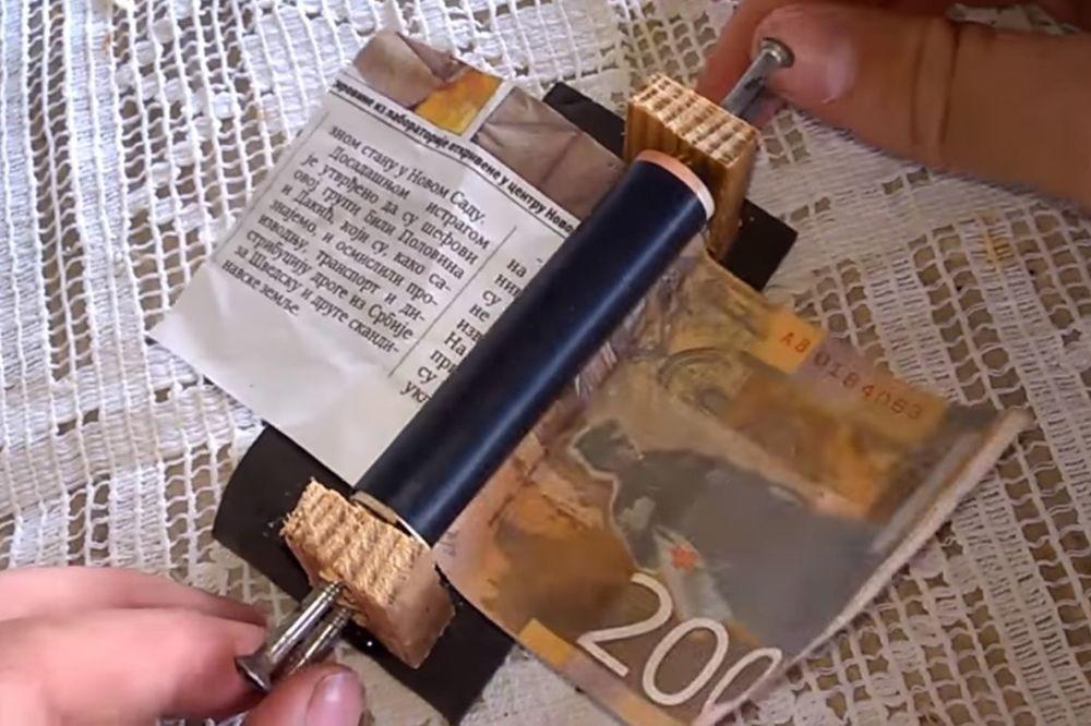 (VIDEO) NOVAC U RUKAMA: Kako da napravite mašinu za štampanje para? - Kurir