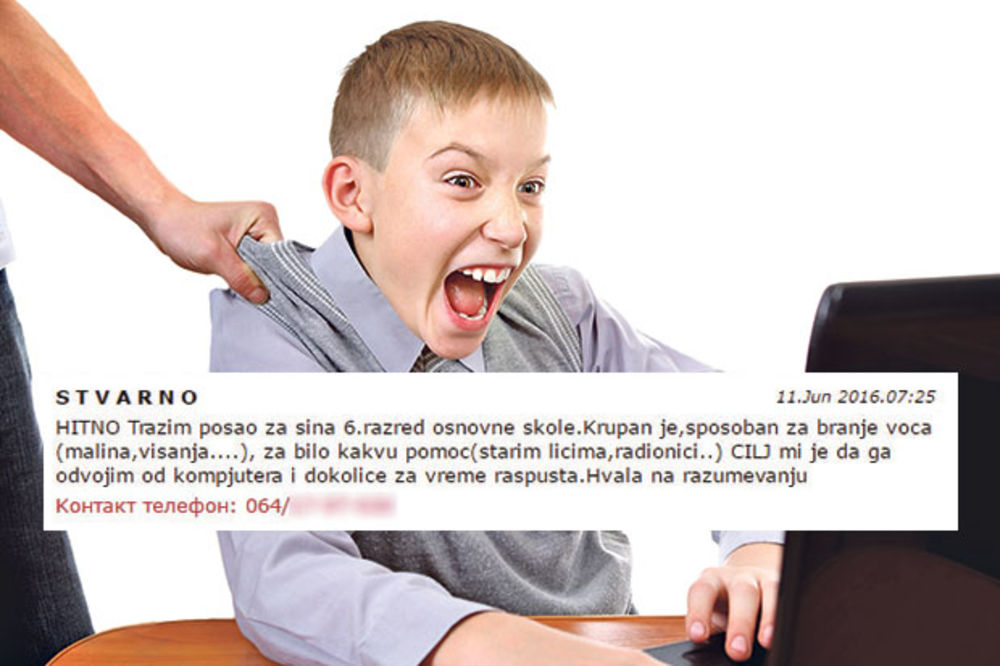 SIN JE ZAVISAN OD IGRICA, ŠALJEMO GA U NADNICU: Roditelji iz Čačka dali neobičan oglas!