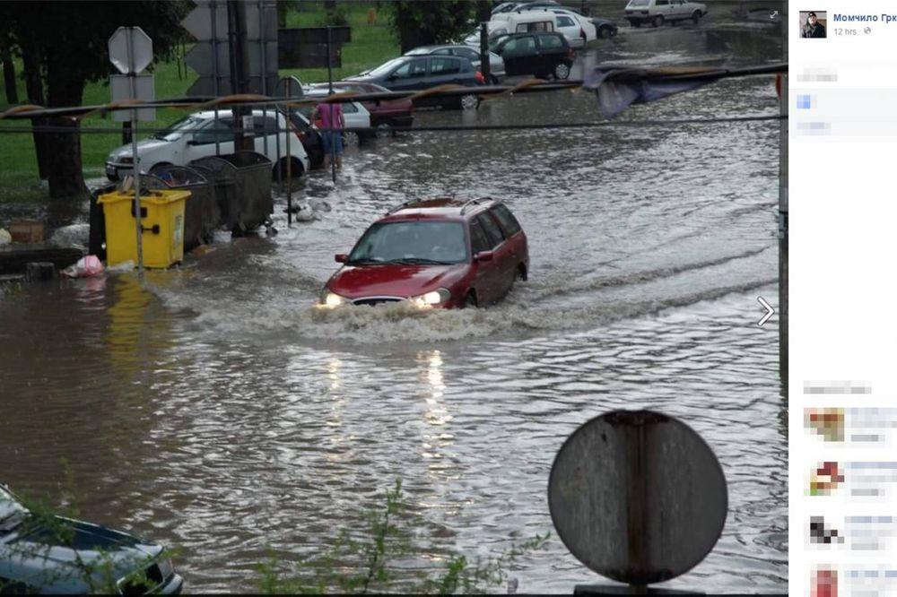 (FOTO) VALJEVO POD VODOM: Snažno nevreme potopilo centar grada!