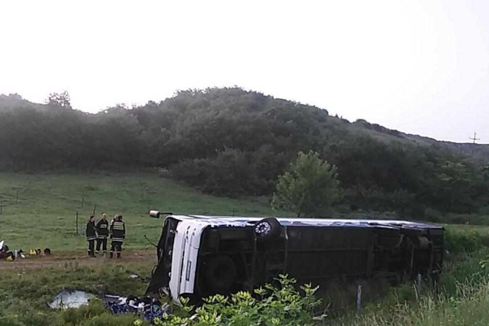 STRAVIČNA SAOBRAĆAJNA NESREĆA KOD ALEKSINCA: Autobus sleteo s puta, 5 mrtvih, 26 povređenih