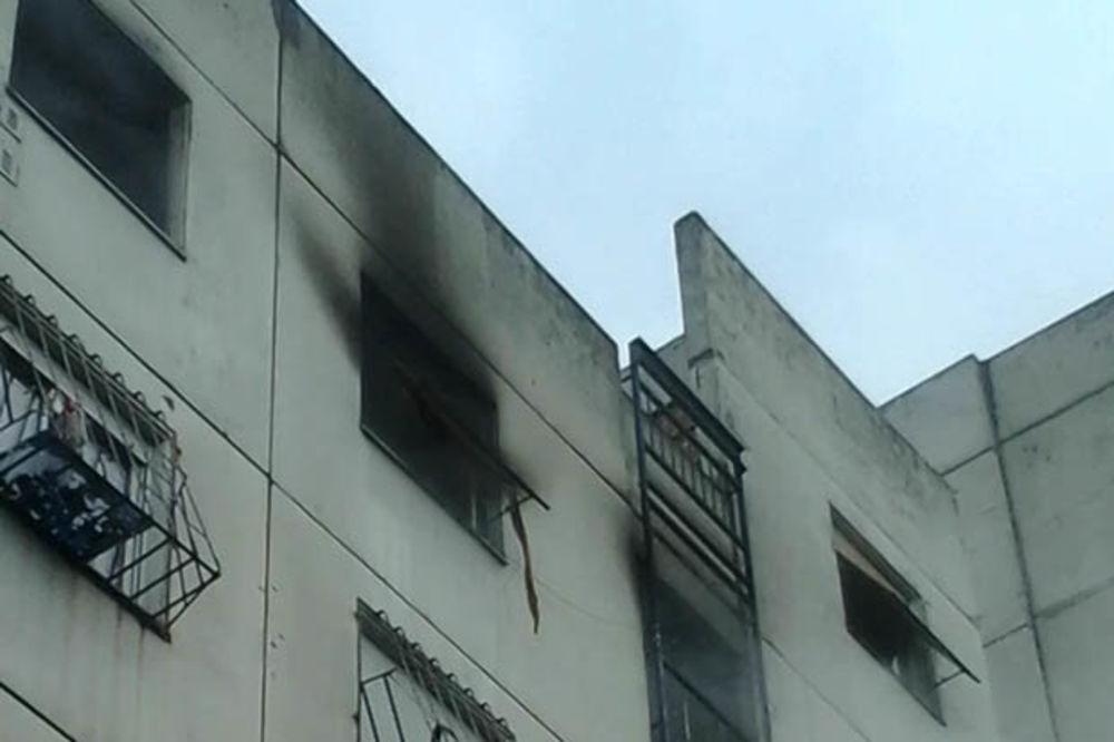 VIDEO POŽAR U NOVOM BEOGRADU: Izgoreo stan u Gandijevoj ulici