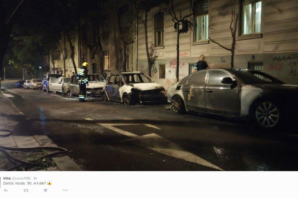 HAOS U CENTRU BEOGRADA: Zapalio se auto, vatra oštetila još 3 vozila