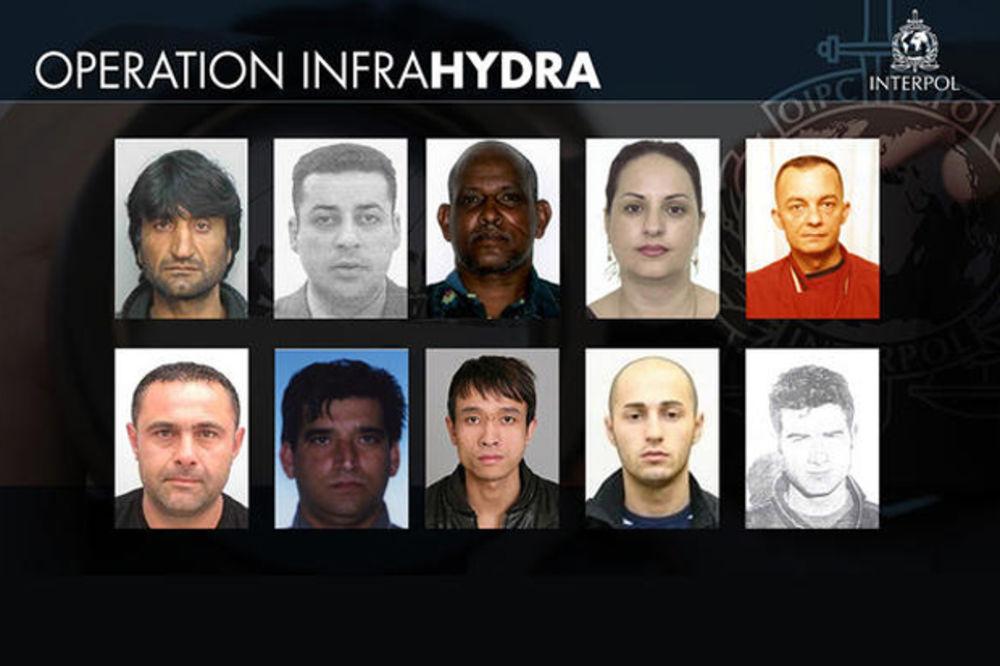OPERACIJA HIDRA: Ove osumnjičene traži Interpol za šverc migranata u Evropu