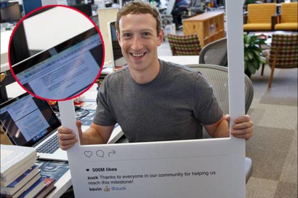 (FOTO) CUKENBERG SE UPLAŠIO: Da li primećujete nešto čudno na ovoj fotografiji?