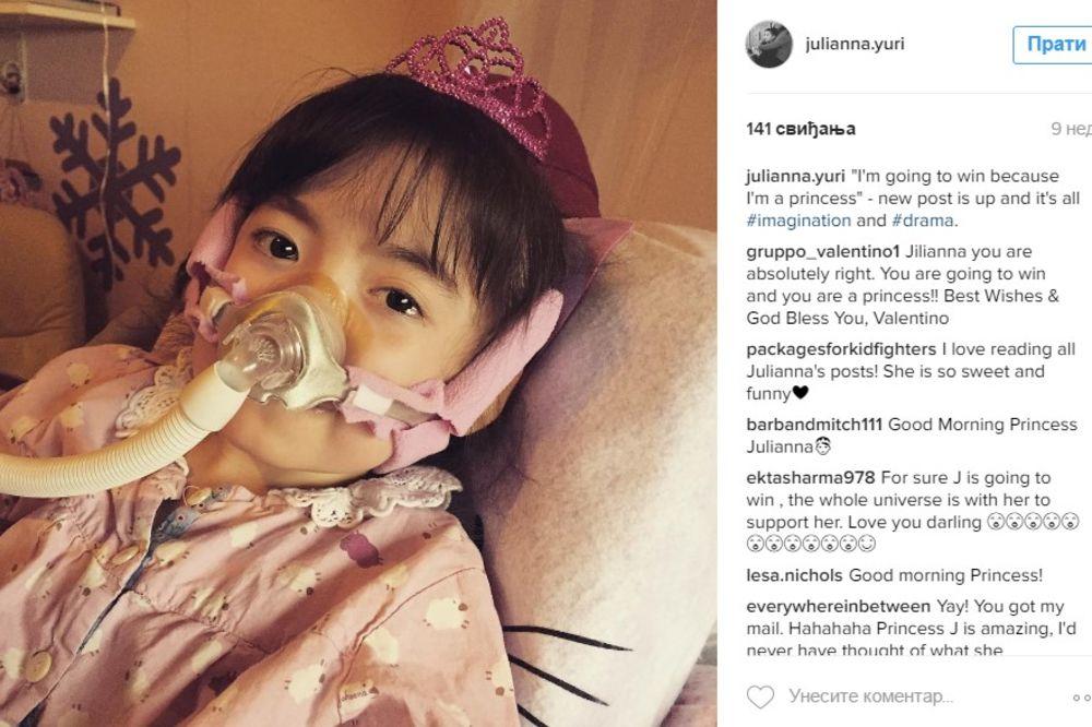 (FOTO) HRABRI ANĐEO: Džulijana (5) čekala da smrt dođe po nju obučena kao princeza