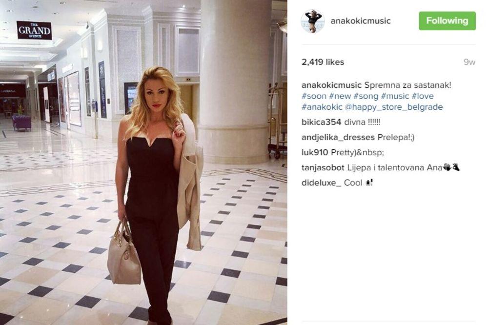 (FOTO) ANA KOKIĆ NIKAD ZGODNIJA: Pevačica se skinula i pokazala tetovažu ispod grudi