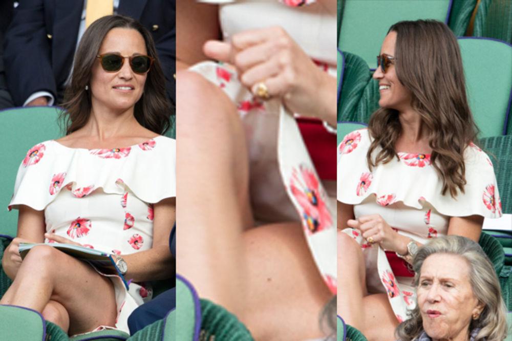 (FOTO) KAO ŠERON STOUN: Pipa Midlton pokazala međunožje na Vimbldonu tokom Novakovog meča