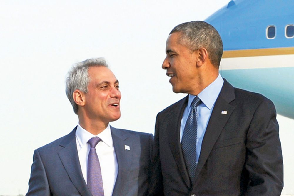 DS hteo da im se dodvori... Ram Emanuel i Barak Obama
