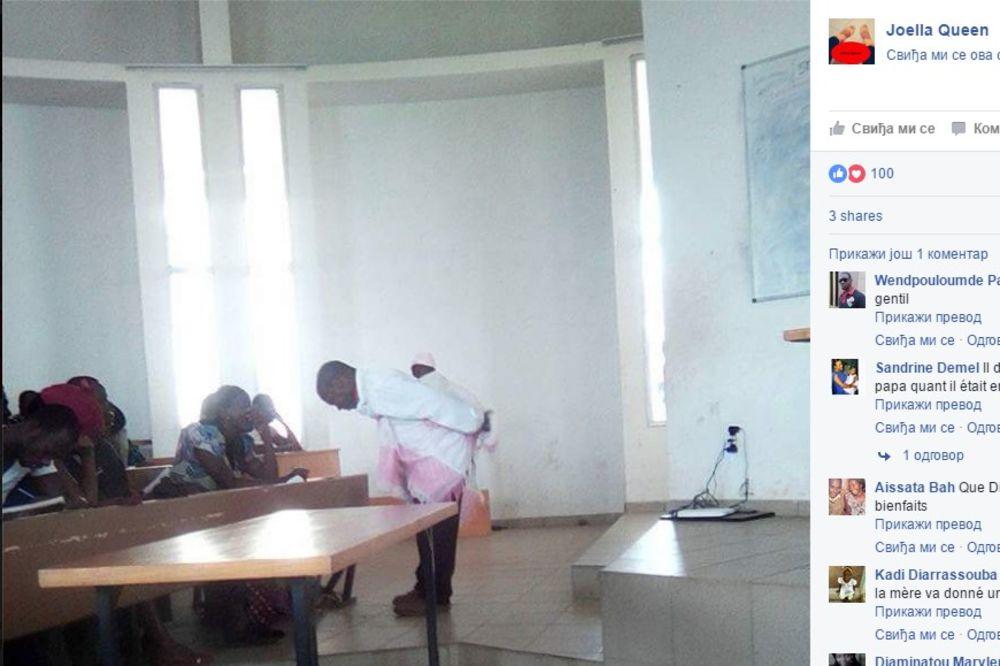 ZAISTA DIVAN GEST: Profesor na leđima nosio bebu studentkinje kako bi ona mogla da prati predavanje