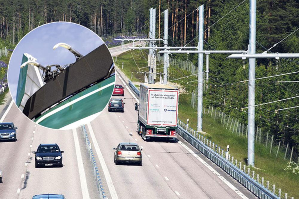 Hibridi.. Kamion kreće na struju deonicama na kojima postoji električna mreža