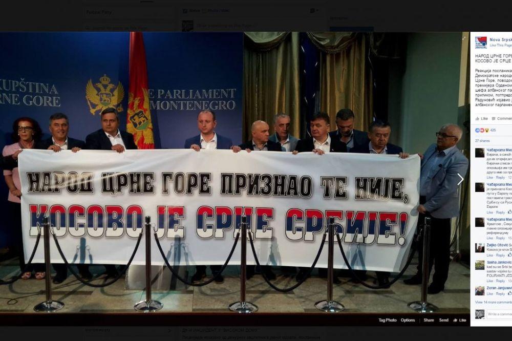 OVAKO JE U PODGORICI DOČEKAN ALBANAC META: Narod Crne Gore priznao te nije, Kosovo je srce Srbije!