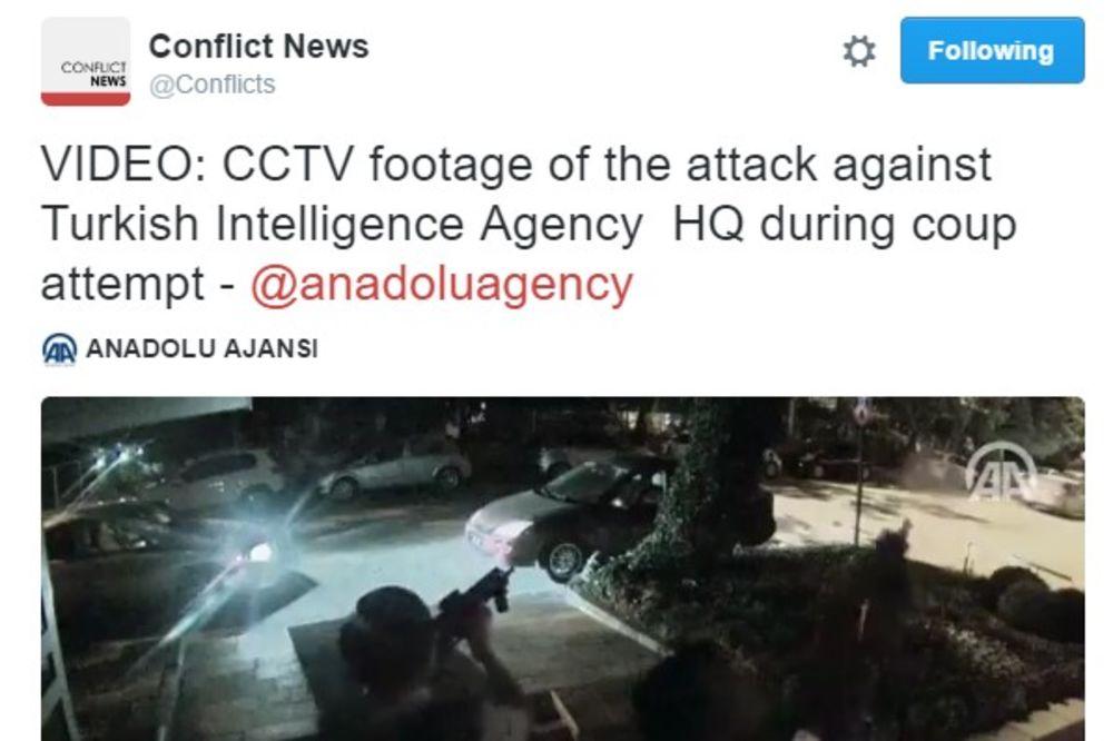 (VIDEO) RAZMENA VATRE U ANKARI: Helikopter napao sedište turskih obaveštajaca! Obezbeđenje uzvratilo