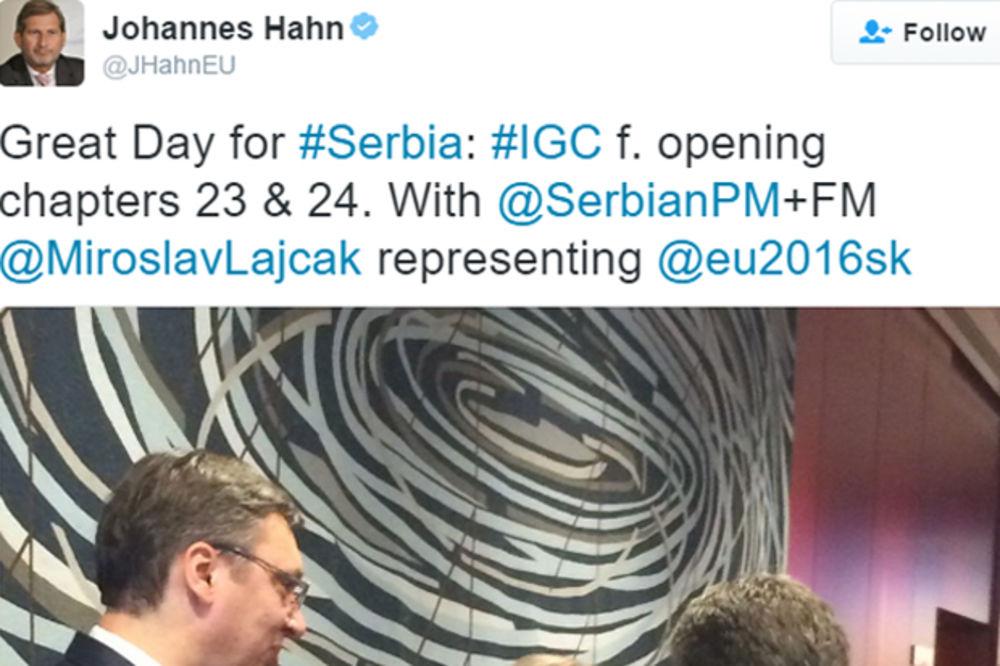 HAN NA OTVARANJU POGLAVLJA 23 I 24: Ovo je veliki dan za Srbiju