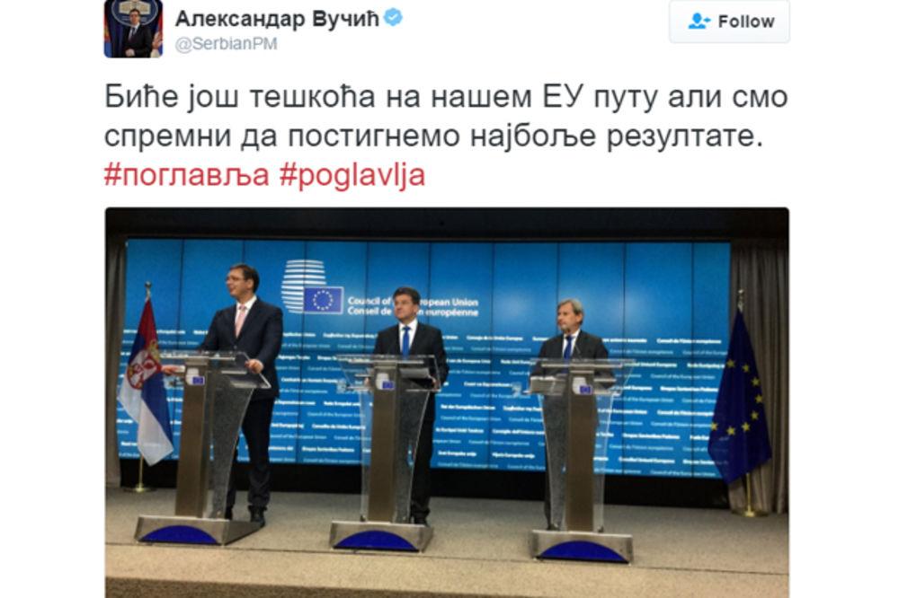 VUČIĆ POSLE OTVARANJA POGLAVLJA 23 I 24: Ovo je izuzetno važan dan za Srbiju