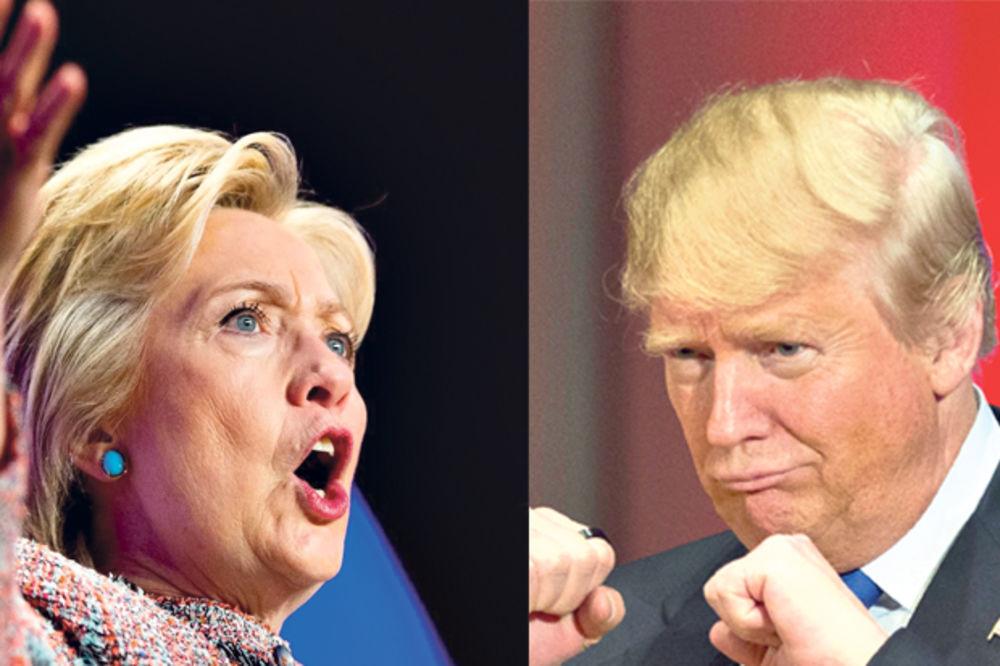 TRAMP SVE VIŠE BEŽI KLINTONOVOJ: Donald povećao prednost nad Hilari!