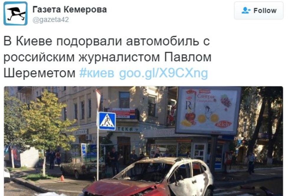 (VIDEO) POGINUO POZNATI RUSKI NOVINAR: Eksplodirao auto koji je vozio!
