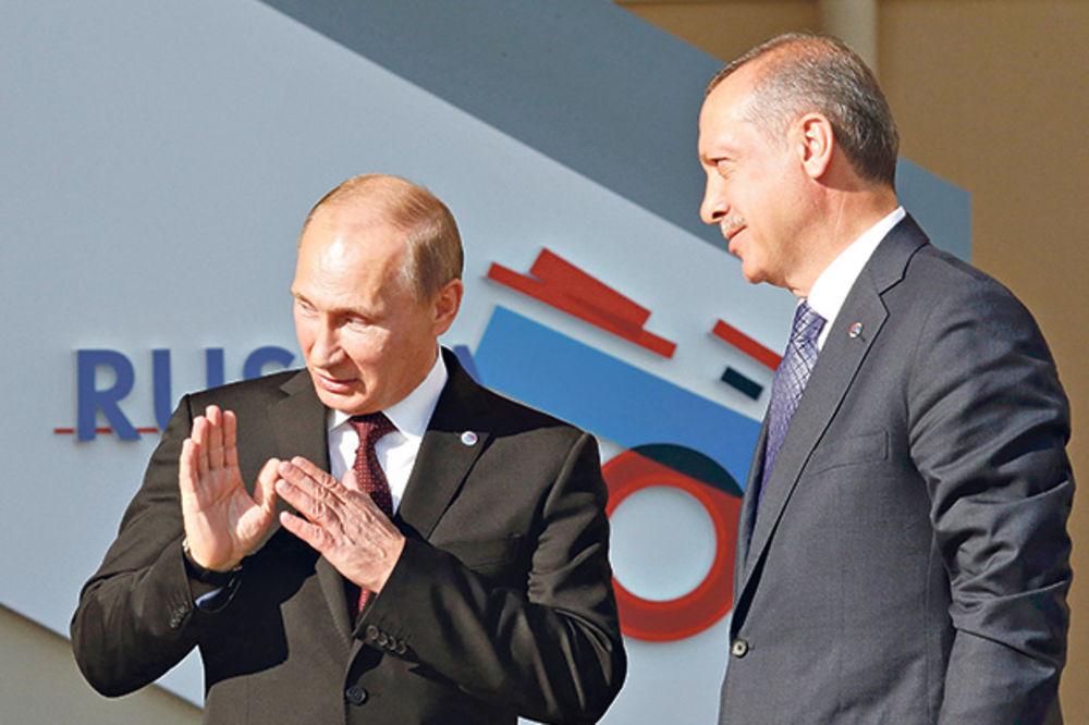 SULTAN SE OKREĆE MOSKVI: Erdogan posle puča juri Putina