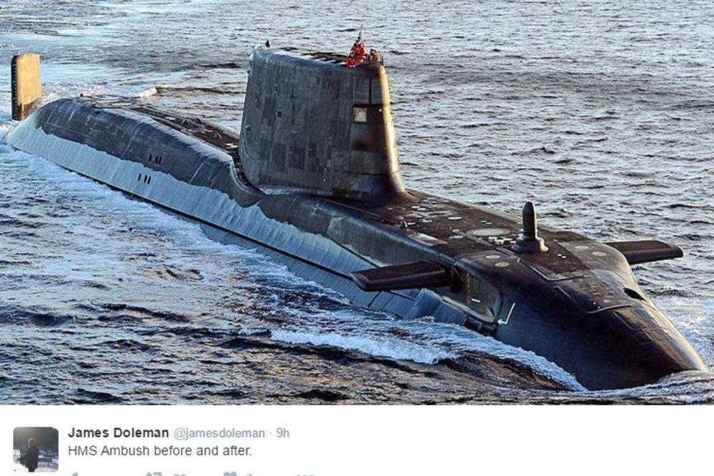 TEŽAK INCIDENT KOD GIBRALTARA: Najmodernija britanska nuklearna podmornica se sudarila sa brodom!