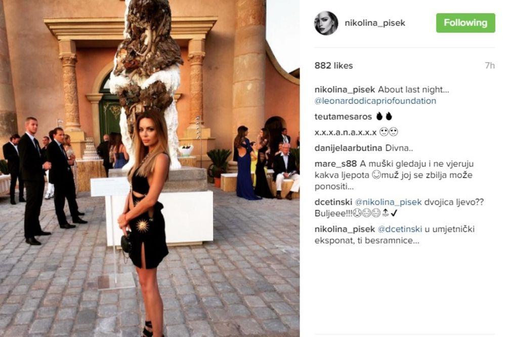 (FOTO) NIKOLINA PIŠEK MEĐU SVETSKIM FACAMA: Voditeljka se provodila na žurki Leonarda Dikaprija