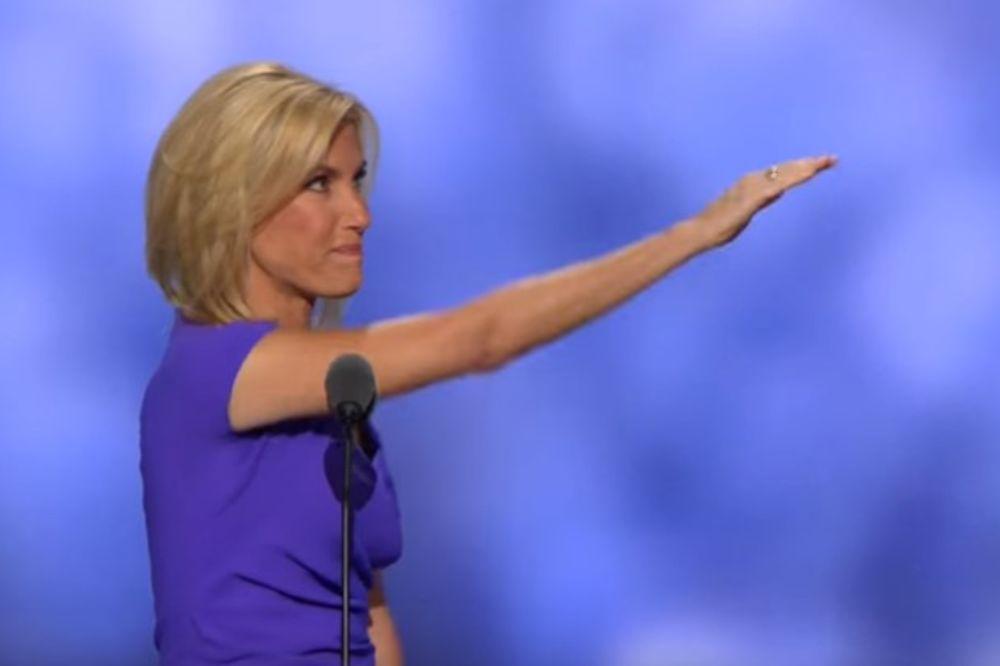 (VIDEO) OBIČNO MAHANJE ILI PROVOKACIJA: Američka voditeljka salutirala nacističkim pozdravom