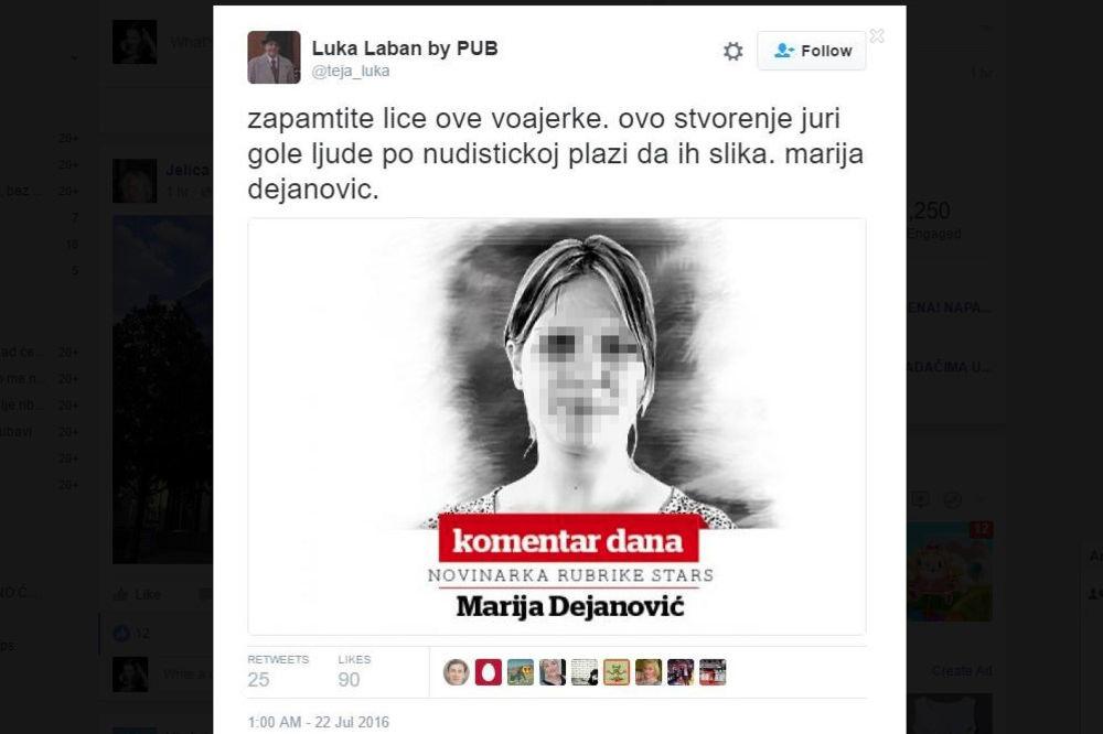 MARIJI DEJANOVIĆ STAVLJENA META NA ČELO: Slika novinarke Kurira kao poternica!